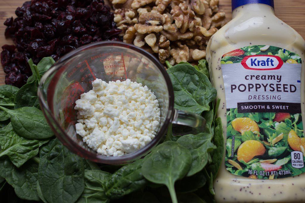 Cranberry Walnut Salad Prep