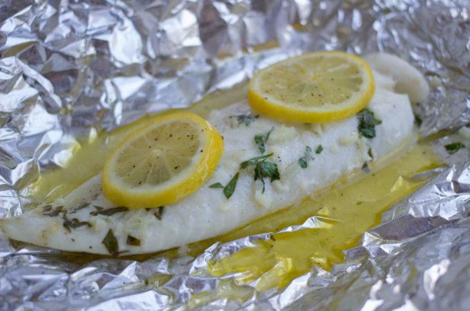 Lemon Tilapia Foil Packet
