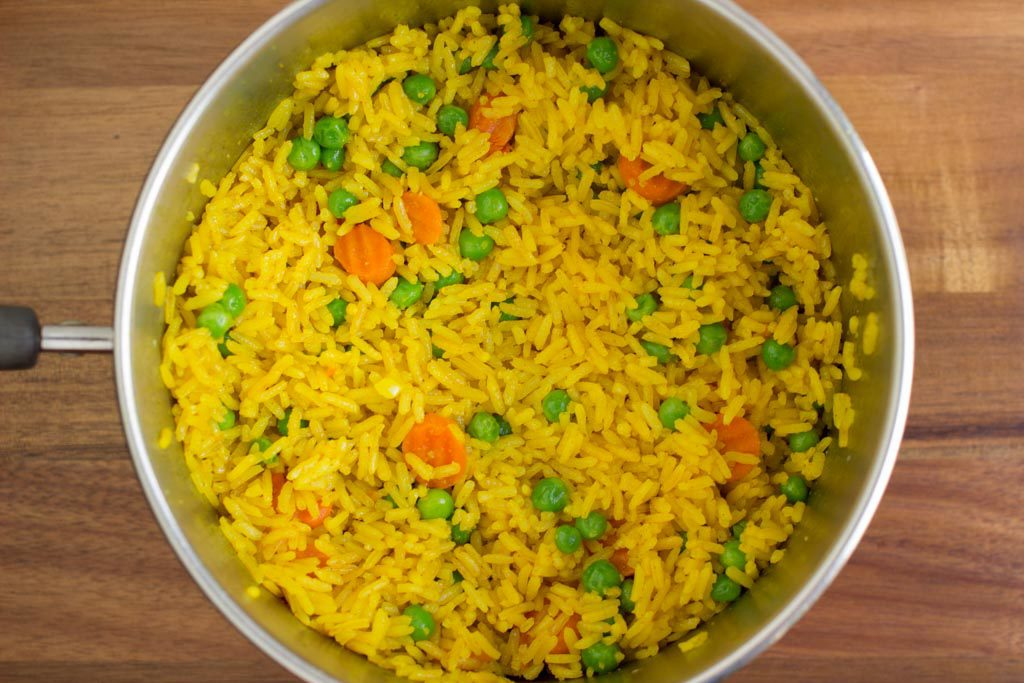 Yellow Rice With Vegetables Beardtastic Recipes
