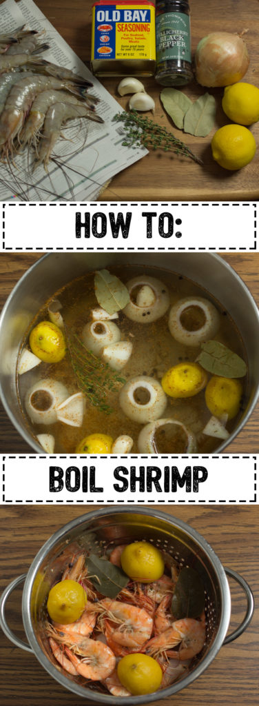 Boiled shrimp is a great way to add seafood to your normal recipes. Add it to a salad you already enjoy or toss it in fried rice near the end of cooking.