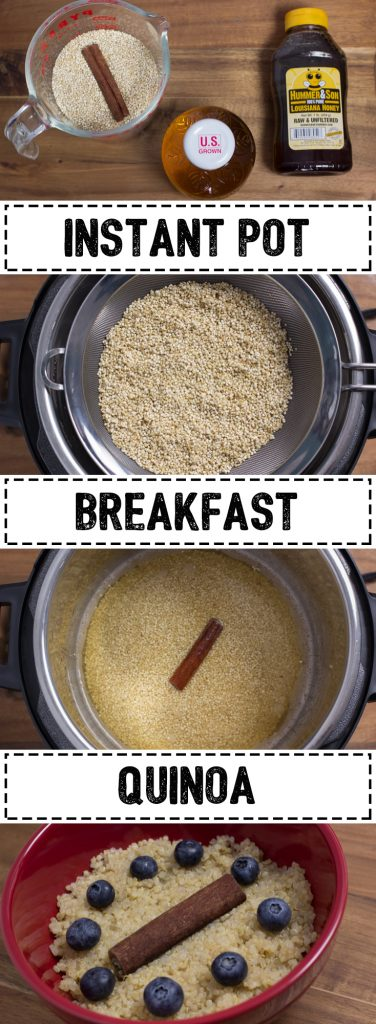 wanted something quick and easy that was reasonably healthy. I had quinoa in the pantry and a pressure cooker on the counter. Thus, Instant Pot Breakfast Quinoa was born!