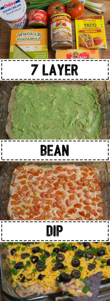 7 Layer Bean Dip - Bring it to your next party and marvel at how quickly it disappears.