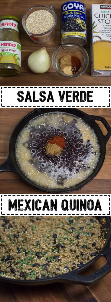 This Salsa Verde Mexican Quinoa is perfect for that Mexican food craving with black beans and tangy salsa verde. It is great for a side dish or can be used as the base in a taco bowl.