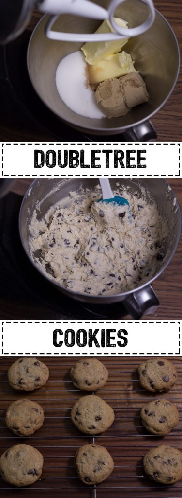 These DoubleTree chocolate chip cookies are an iconic treat that are given to their hotel guests upon checking in. The cookies are baked fresh every day and have a distinct gooey yet crisp texture.